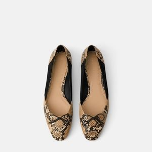 Zara BALLET FLATS WITH BOW 7.5